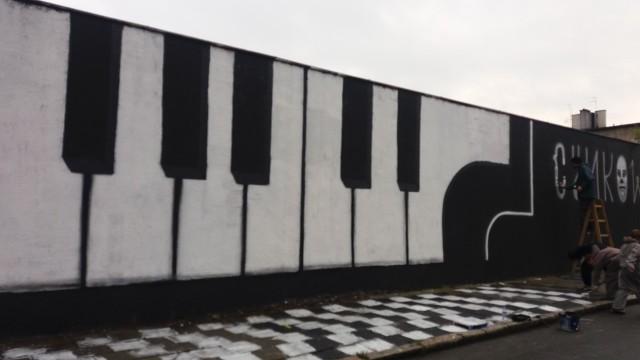 Mural przy Cynkowej w Zawodziu