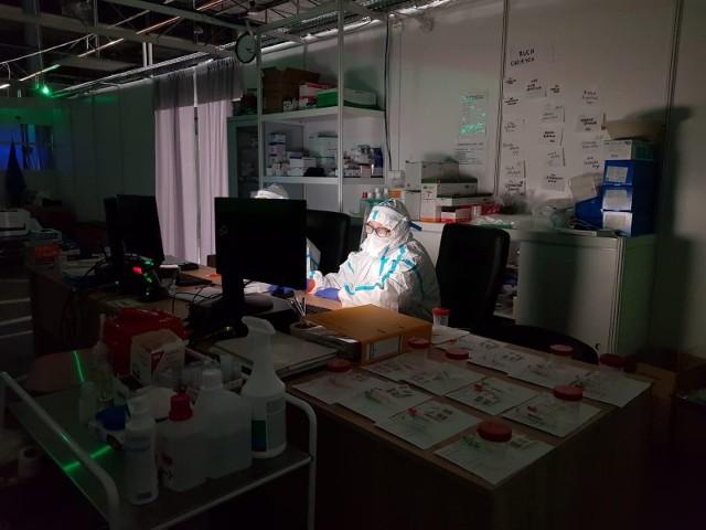 Tak wygląda praca w szpitalu tymczasowym w Targach Kielce