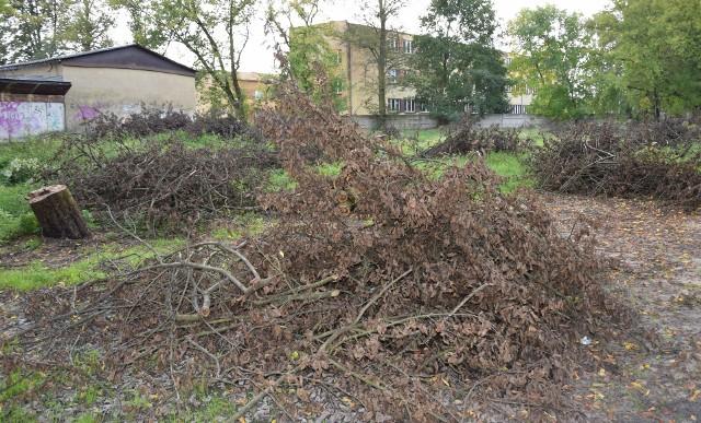 Trwa przygotowywanie terenu pod plac budowy nowego przedszkola we Włoszczowie.