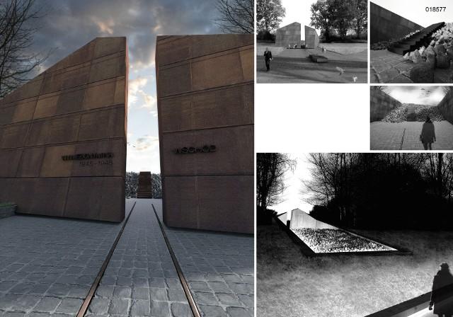 Zwycięska  praca na projekt Pomnika Ofiar Deportacji Mieszkańców Górnego Śląska do Związku Sowieckiego, autorstwa Michała Dąbka i Jana Kuka z Krakowa. Ta praca otrzymała nagrodę główną.