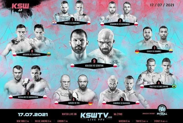 KSW 62 na żywo: wyniki, kart walk