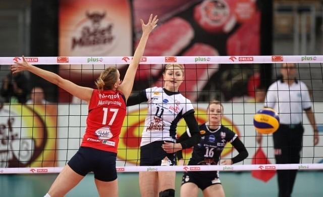 Sylwia Pyciazdobyła punkt dający zwycięstwo drużynie Budowlanych.