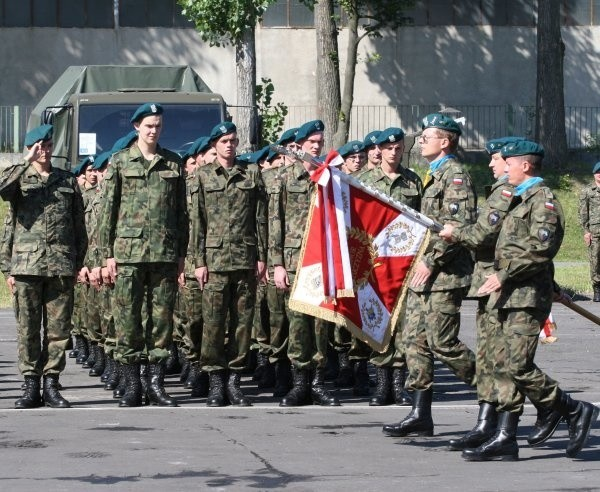 Żołnierze 10. Brygady Logistycznej podczas obchodów Święta Wojska Polskiego.
