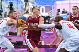 Tokio 2020. Koszykarze 3x3 przegrali mecz otwarcia z Łotwą. Z trybun dopingował ich prezydent Andrzej Duda