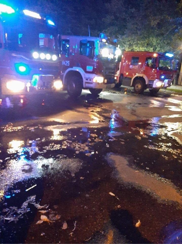 Pożar na stadionie w Grójcu. Spłonął sprzęt sportowy klubów Mazowsze i Lesznowola