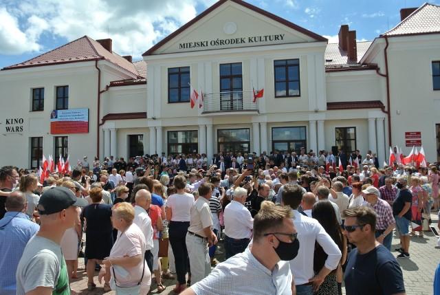 Premier Mateusz Morawiecki spotkał się z samorządowcami i mieszkańcami miasta Wysokie Mazowieckie