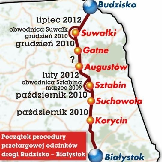 Czy naszym władzom uda się wprowadzić w życie projekty trasy Białystok - Budzisko?