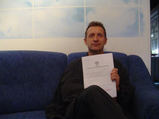 Marek Witowski ma wyrok Sądu Rejonowego w Stargardzie, który potwierdza, że przez zaniedbania adwokata Remigiusza Sz. stracił możliwość walki o korzystny dla siebie wyrok.