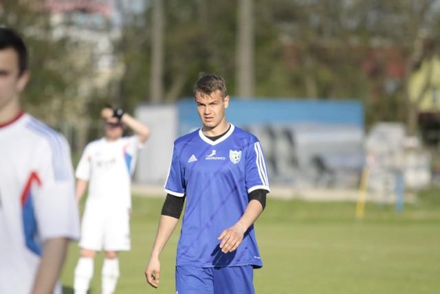 Dawid Dahms, napastnik zespołu z Krapkowic doczekał się na swoją bramkę.