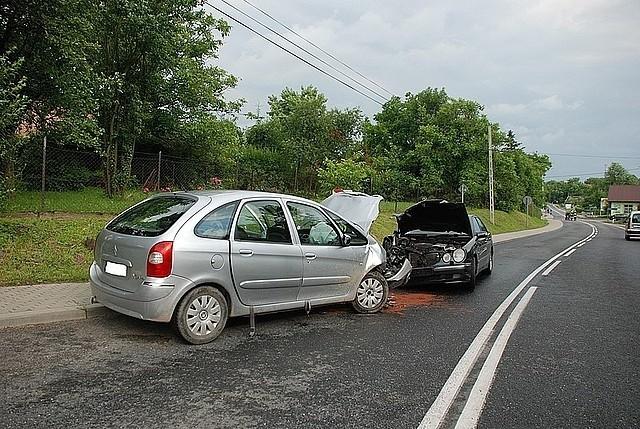 Wypadek w Markowej.