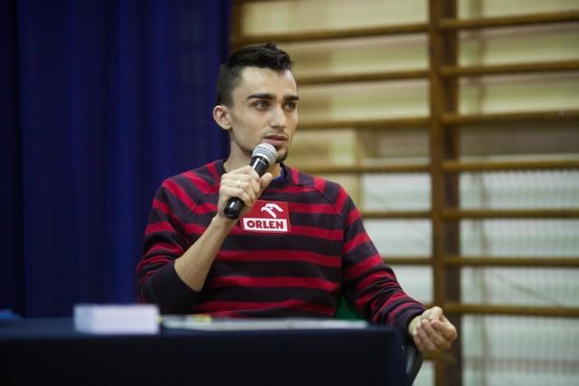 Adam Kszczot w Publicznym Gimnazjum nr 18 w Łodzi