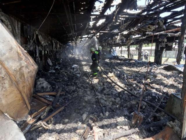 Pożar w Brodziszewie: Spłonęło 15 tysięcy kurczaków