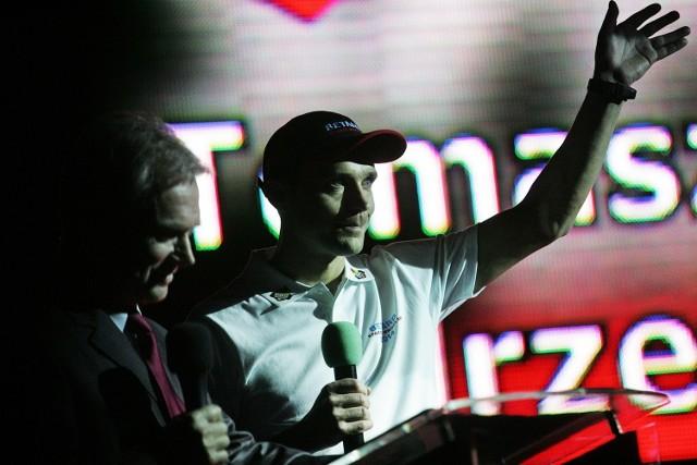 Tomasz Jędrzejak (na zdjęciu), a także Tai Woffinden i Maciej Janowski byli witani najgłośniej podczas piątkowej prezentacji.