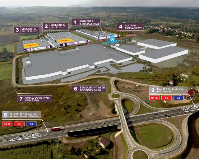 Tak ma wyglądać nowe centrum logistyczne w Psarach