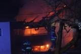 Tarnobrzeg. Pożar zabudowań gospodarczych na posesji przy ulicy Orląt Lwowskich