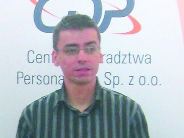 Adam Kalinowski z Centrum Doradztwa Personalnego