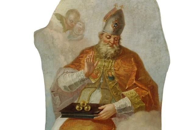 Fortunat Bergant: Święty Mikołaj z Bari - Narodowa Galeria Słowenii.