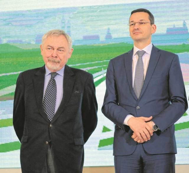 Prezydent Jacek Majchrowski podczas wczorajszego spotkania w Warszawie z wicepremierem Mateuszem Morawieckim