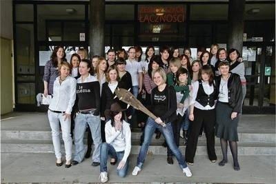 W krakowskim Zespole Szkół Łączności uczy się 1 tys. uczniów, a wśród nich około 40 dziewcząt Fot. Anna Kaczmarz