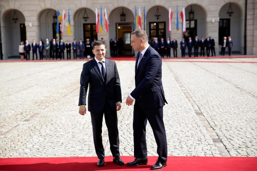Prezydent Ukrainy w Polsce. Wołodymyr Zełenski spotkał się z...