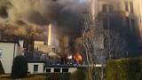 Potężny pożar opuszczonej fabryki pod Kłodzkiem. Dym widoczny z kilkudziesięciu kilometrów