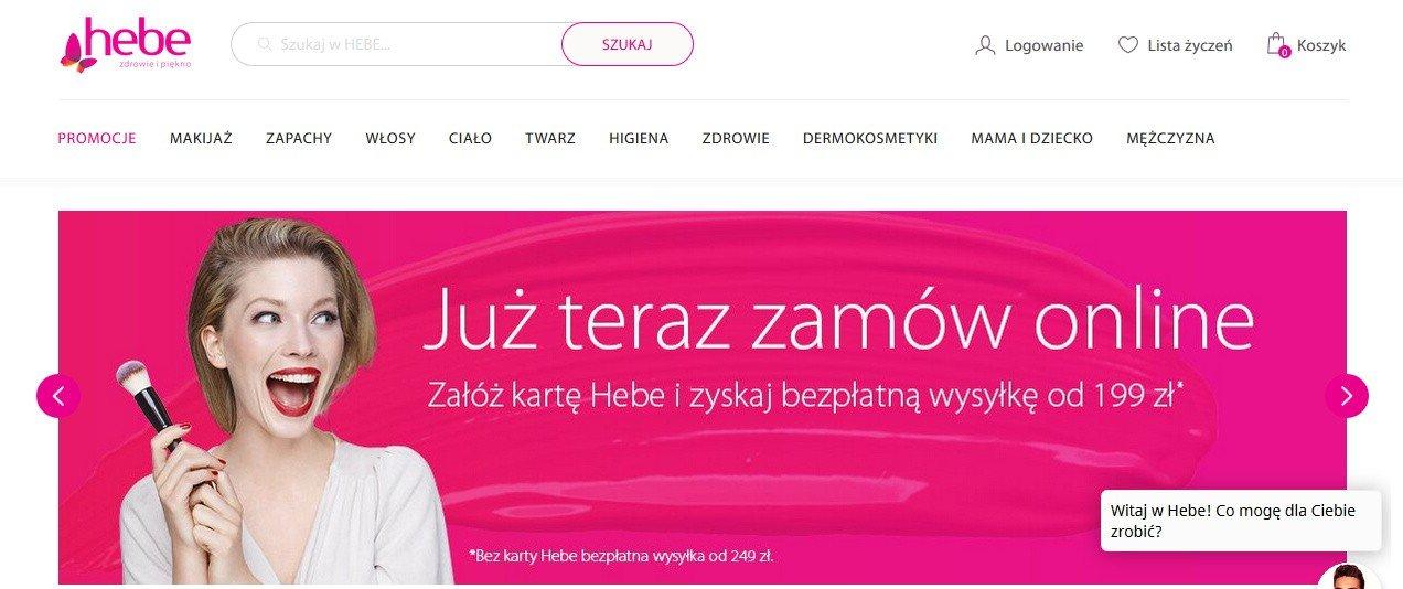 2777c9dfa873ef Ruszył sklep internetowy drogerii Hebe, należącej do Grupy Jeronimo Martins  Polska. Promocje, koszty dostawy | Dziennik Zachodni
