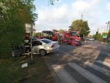 Śmiertelny wypadek pod Pabianicami. Zginął młody kierowca ZDJĘCIA