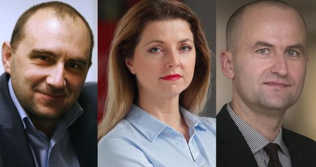 Eksperci oceniający debatę Nowin: Krzysztof Prendecki, Anna Siewierska-Chmaj i Paweł Kuca