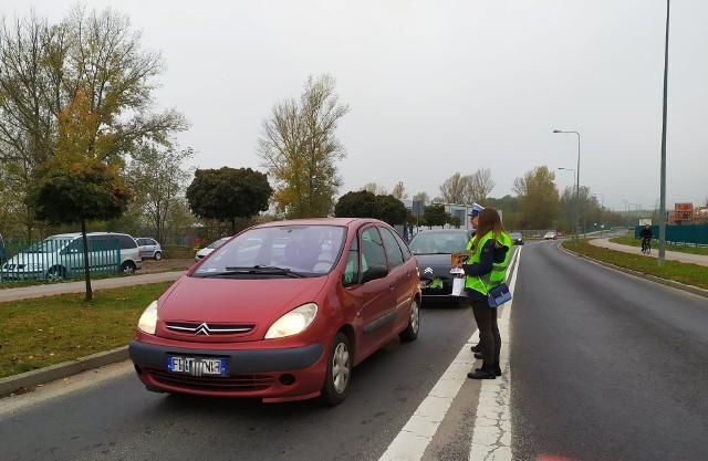 Wspólna akcja policji i urzędu miejskiego Trzeźwy Kierowca, 29 października 2019 r.