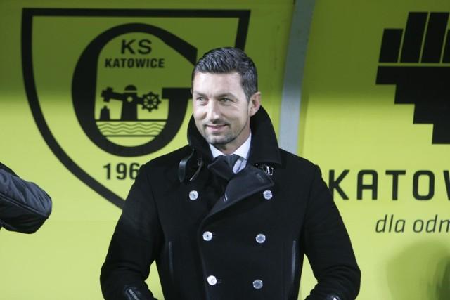 Trener GKS Katowice Dariusz Dudek.