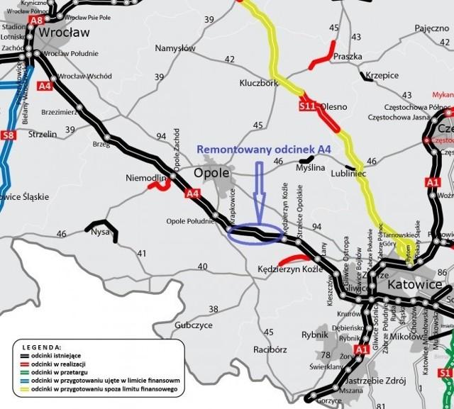 Kierowcy podróżujący z Dolnego na Górny Śląsk muszą wykazać się dużą dozą cierpliwości. Obecnie ruch w obu kierunkach odbywa się tylko jezdnią w kierunku Katowic.