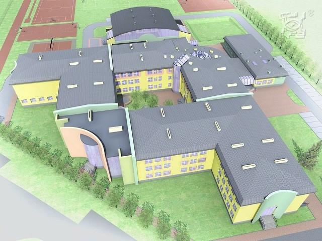 Wizualizacja rozbudowy szkoły na Felinie