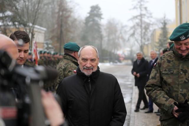 Minister Obrony Narodowej Antoni Macierewicz w Białymstoku