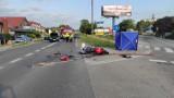 Śmiertelny wypadek ul. Lubieszyńskiej w Mierzynie w Szczecinie. Motocyklista zderzył się z samochodem osobowym