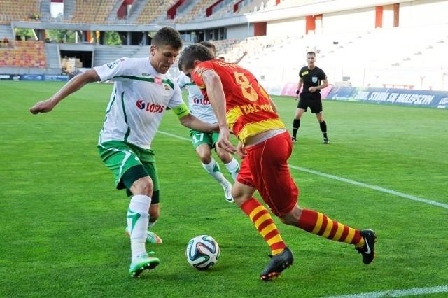 Na inaugurację sezonu swoim były kolegom z Lechii bardzo dał się we znaki Patryk Tuszyński (z nr 8), strzelając dwa gole. Powtórka ze strony jagiellończyka w Gdańsku mile widziana.
