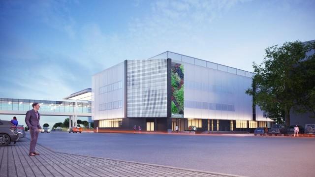 Budynek Poznań Congress Center zostanie poddany termomodernizacji i otrzyma nowoczesną elewację kinetyczną, która dzięki tysiącom małych płytek reaguje na zjawiska naturalne, np. wiatr.