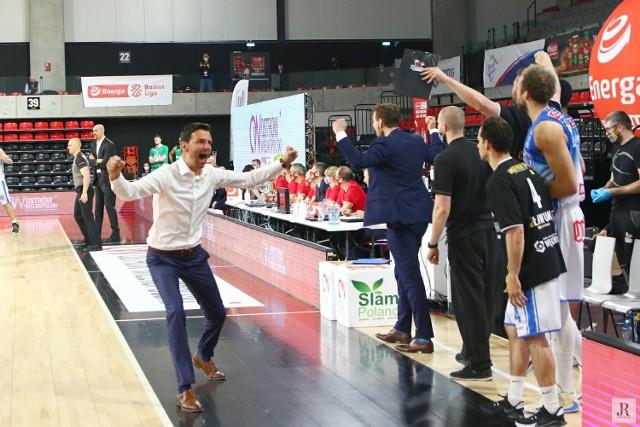 Tak cieszył się po końcowej syrenie trener Igor Milicić. Bez niego Stalówka nie byłaby na pewno mistrzem kraju