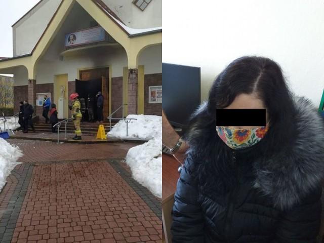 Policjanci ustalili i zatrzymali 34-letnią mieszkankę Łęcznej, która odpowie za podłożenie ognia w kościele przy ulicy Pogodnej w Lublinie