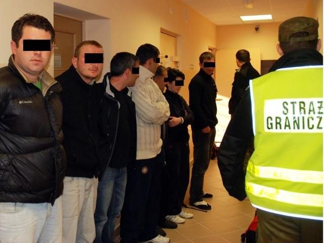 Nielegalni imigranci zatrzymani przez Podlaski Oddział Straży Granicznej