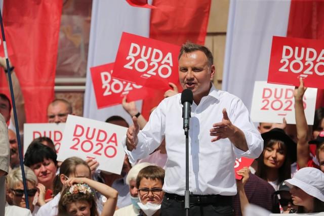 Wiec prezydenta Andrzeja Dudy