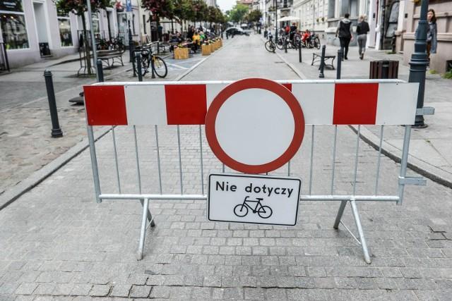 Część ulicy Wajdeloty była testowo zamknięta dla samochodów między 11 a 14 czerwca