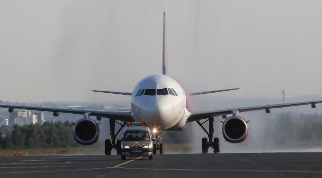Lądowanie pierwszego samolotu Wizzair na trasie Oslo - Rzeszów.