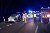 Poważny wypadek w powiecie bialskim. W Krzewicy zderzyły się dwie osobówki. Zobacz zdjęcia