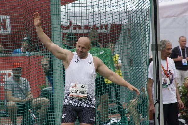 Dyskobol Piotr Małachowski zdobył trzynasty tytuł mistrza Polski i w pięknym stylu pożegnał się z poznańską publicznością