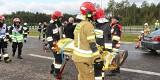 Powiat janowski. Autobus uderzył w cysternę, 29 poszkodowanych i zablokowana droga. Na szczęście to tylko ćwiczenia strażaków na S19. Zobacz