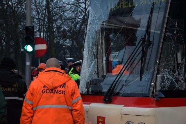Wypadek tramwajów w Gdańsku