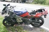 Gieniusze: Wypadek na DK 19. Kawasaki zderzyło się z suzuki (zdjęcia)