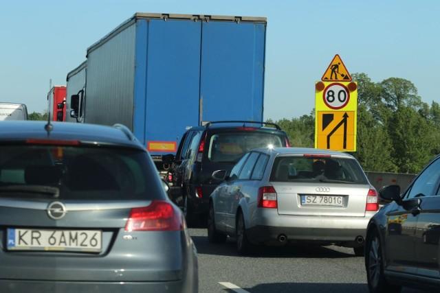 Od rana kierowcy stoją w korkach na autostradzie A4 pod Wrocławiem