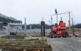 ŁKS stadion. Budowa trzech trybun  wyszła z poziomu 0 [ZDJĘCIA]