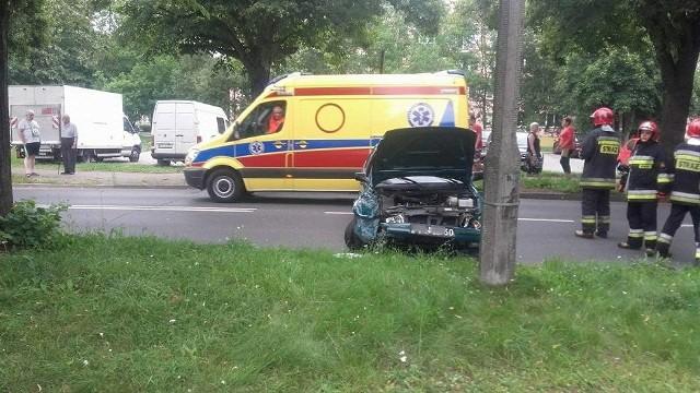 Pijany kierowca próbował uciekać z miejsca kolizji.